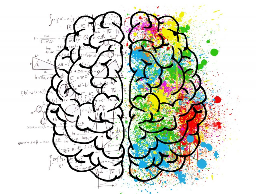 Mindfulness Image with image of brain with numbers and colors