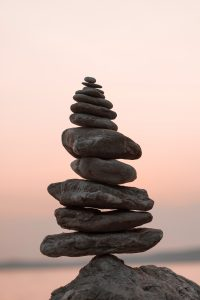 Mindfulness Image with Stones